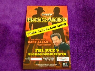 July 9, 2009 Brooks & Dunn Cleveland Ohio Concert Card Last Show