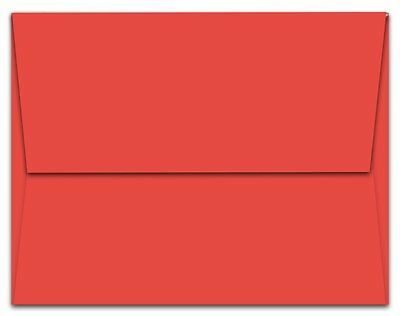 "250 Red A7 Envelopes - 7.25"" x 5.25"" - Square Flap"