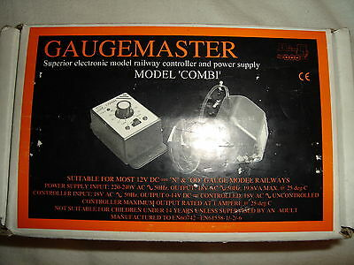 Gaugemaster COMBI PSU Power Supply Controller Model Rail N OO Boxed New