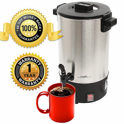 New Stainless Steel 30 Cup 950 W Commercial Coffee Maker Urn Percolator  ,