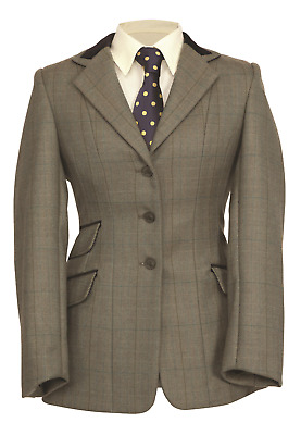 Shires Childs Huntingdon Jacket - Green Herringbone
