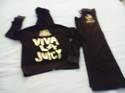 TUTA BAMBINA JUICY COUTURE 8 ANNI IN VELLUTO MARRONE fai lotto stock