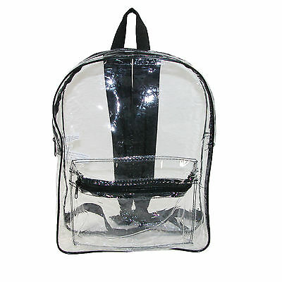 New Liberty Bags Clear Backpack with Adjustable Straps