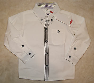 Name It BNWT Boys Smart Long Sleeved White Shirt Size 12-18 Months