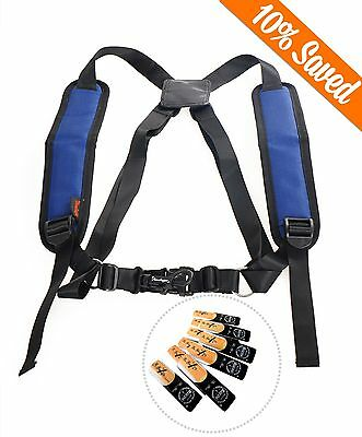 Tenor Baritone Sax Saxophone Shoulder Strap Harness Junior With Box Of 10 Reeds