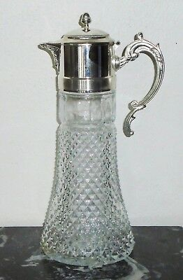 "Antique Silver ""Eales 1779 Silver Plate Italy"" 14in Wine Claret / Water Pitcher"