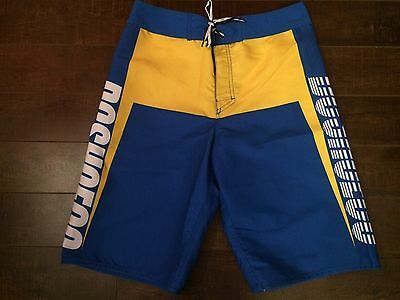 DC Shoe Co Boy's Blue/Yellow Board Shorts - Size 16 - NWT $48