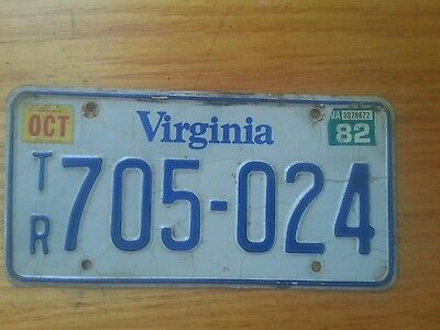 VIRGINIA Used TRAILER License Plate 705-024  (1) plate only