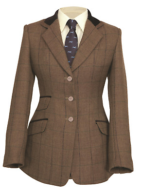Shires Childs Huntingdon Jacket - Brown Herringbone