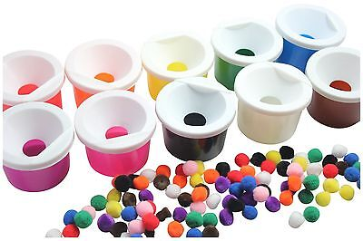 Color Sorting Cups Set - 10 Colored cups for learning colors