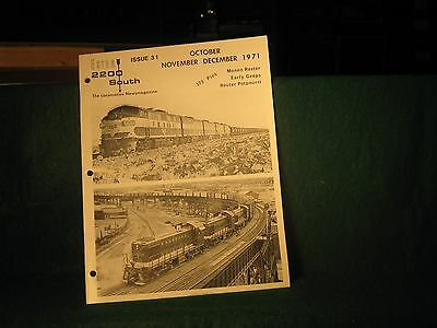 Extra 2200 South Issue 3 Hole punched Monon Roster Early Geeps w phase diagrams