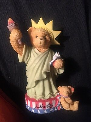 Cherished Teddies - LIBBY Statue of Liberty My Country Tis Of Three 1997!