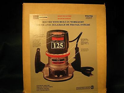 Craftsman 125 Portable router Mint Condition Never Used OB