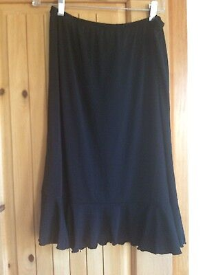 """Nwt Ladies Black """"new Additions Maternity"""" Polyester Skirt Sz Xs"""