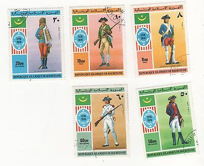 1976 MAURITANIA Bicentenary of American Independence FULL SET x 5 SG#494-498 CTO