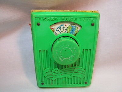 1976 Fisher Price Toy Music Box Pocket Radio I'd Like To Teach The World To Sing