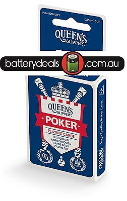 QUEEN'S Slipper POKER Playing Cards, Casino Quality, Linen Embossed
