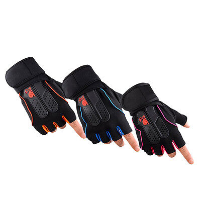 Mens Weight Lifting Gym Fitness Workout Training Exercise Half Gloves CU