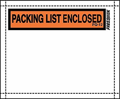 """Pres-Quick® Brand Packing List Envelopes 4.5"""" X 5.5"""" WITH INDUSTRIAL STRENGTH by"""