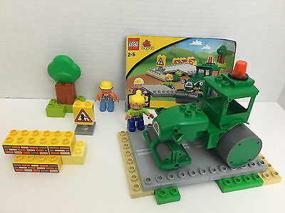 Complete LEGO DUPLO 3295 Roley's Road Set Wendy Bob The Builder Lot + Extra Bob