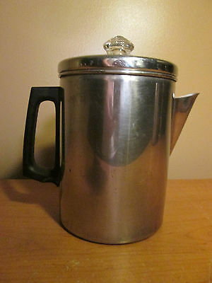Stainless Steel Stove Top Classic Percolator Coffee Maker Vintage Retro