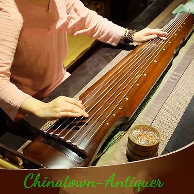 "48"" Guqin Chinese seven-stringed zither ancient instrument strings Fu-hsi # 3746"