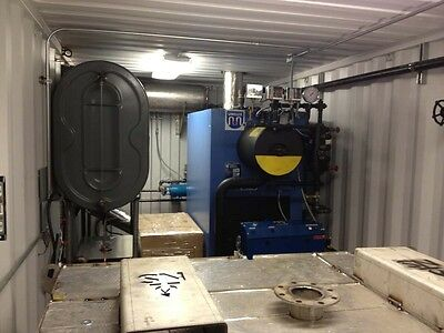 30Hp Unilux Steam Boiler In Cargo Container