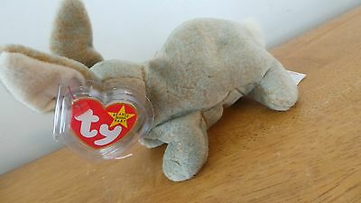 Nibbly the Rabbit Ty Beanie Baby, Rare 4 ERRORS NEW with Tags and tag protector
