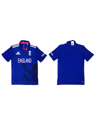NEW Official England Cricket Mens ODI Shirt (Large, X-Large, 2X-Large)