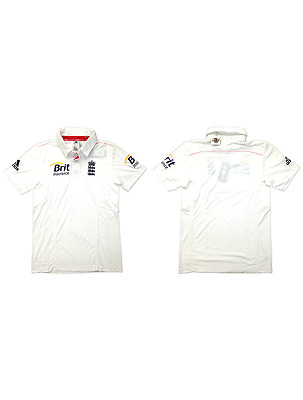 NEW Official England Cricket Mens Replica Test Shirt