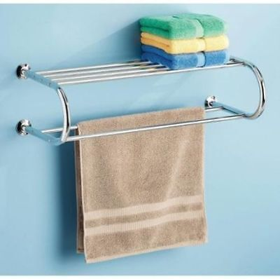 Whitmor 6060-3571-BB Chrome Shelf and Towel Rack