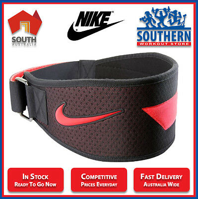 Nike Men's Intensity Training Weight Lifting Belt Red Lightweight EVA Air Flow