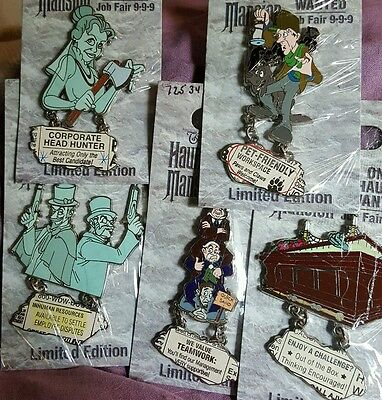 Disney Pin One Haunt Wanted Job Fair 9-9-9 Caretaker Quicksand Coffin Constance