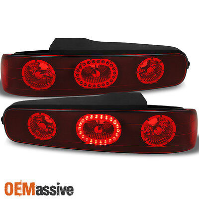 94-01 Integra 2Dr Coupe Red Lens LED Ring Tail Lights Brake Lamps Replacement