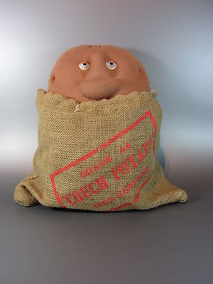 Vintage Original Couch Potato in Sack Coleco Plush Stuffed Toy Robert Armstrong