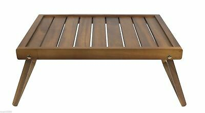 ACACIA WOOD BREAKFAST TRAY Foldable Folding Lap Table Snack Tea Serving Serve