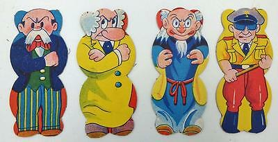 4 Vintage Japanese Astro Boy, Mighty Atom Series Character Figural Menko Cards-B