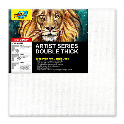 """Artoys Studio Blank Canvas Double Thick 8x8"""" (20.3x20.3cm) 380gsm 35mm Thick"""