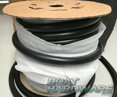 40mm Gunwale Flexible Rubber PVC Gunnel Boat Strip Edging BLACK Sold per Metre