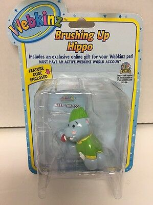 Webkinz Brushing Up Hippo Series one Figure New In Package