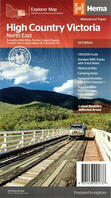Hema High Country Victoria 4Wd - Motor Bike- Camping - Bushwalking Trails Map