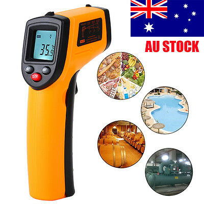 Nice Non-Contact LCD IR Laser Infrared Digital Temperature Thermometer Gun CU