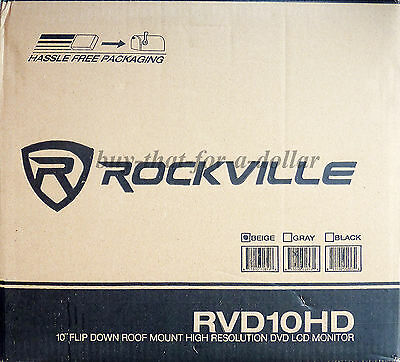"*NEW*Rockville RVD10HD-BG 10.1"" Flip Down Monitor DVD Player-Movies-Games-Music"