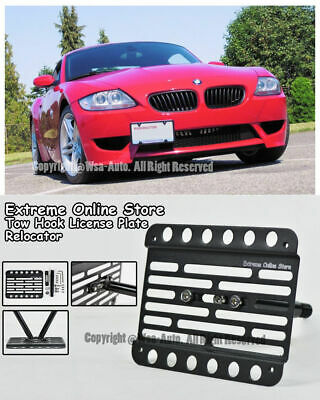 For 02-08 BMW E85 Z4 M-Sport Front Tow Hook License Plate Relocator Bracket