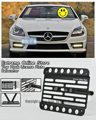 For 12-16 Mercedes-Benz R172 Front Tow Hook License Plate Bracket SLK-Class