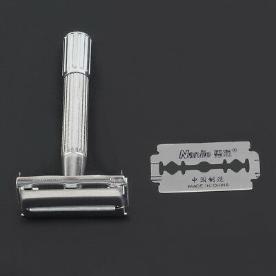 Men's Classic Traditional Shaver Double Blade Safety Shaving Salon Razor CU