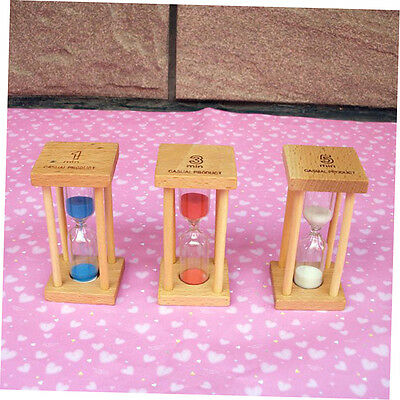 Wooden Hourglass Sandglass Sand Clock Timer for Kids Brushing 1 minute CU