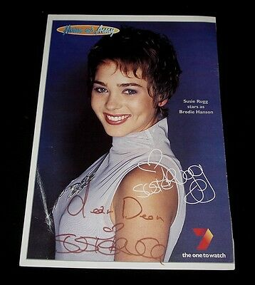 SUSIE RUGG HOME & AWAY BRODIE HANSON FAN CARD SIGNED Channel 7 TV Show
