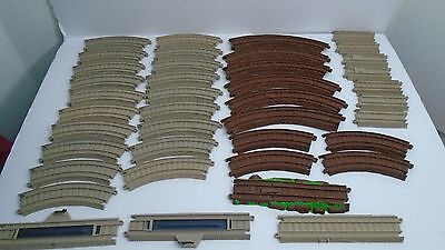 Thomas The Train Trackmaster Tan Beige Brown Curved Straight Track Set Lot Of 40