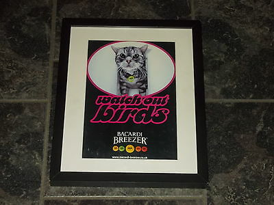 Bacardi breezer-Rare Original advert Framed ready for your wall(1)